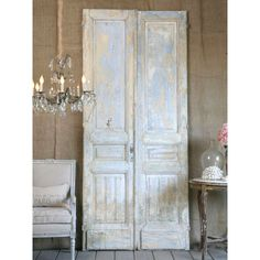 Antique Double Doors from Europe in Lilac