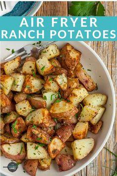 Air Fryer Oven Recipes, Air Frier Recipes, Air Fryer Dinner Recipes, Air Fryer Recipes Potatoes, Oven Fryer, Air Fry Potatoes, Air Fryer Recipes Vegetarian, Vegetarian Side Dishes, Vegetarian Cooking