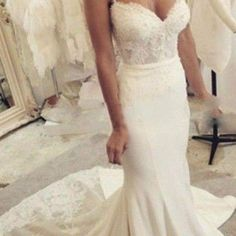 Spaghetti Sweetheart Mermaid Wedding Dresses 2016 Backless Beaded Sequins Chapel Train Satin Appliques Fashion Bridal Dress Vestio De Noiva