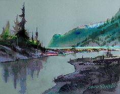 david rankin watercolor | Cascade Head, Oregon