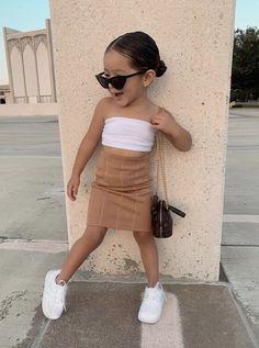 Cute Little Girls Outfits, Cute Little Baby, Kids Outfits Girls, Toddler Girl Outfits, Cute Babies, Cute Kids Fashion, Baby Girl Fashion, Foto Baby, Cooler Look