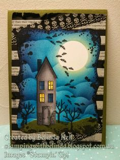 Stampin' it up with Belinda: Dark & Spooky Cards