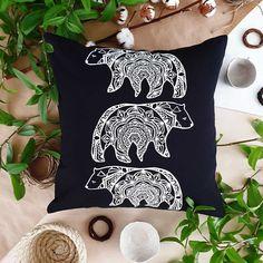 Bear, Throw Pillows, Toss Pillows, Cushions, Bears, Decorative Pillows, Decor Pillows, Scatter Cushions