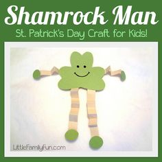 Shamrock men make a perfect St. Patrick's Day craft for kids!