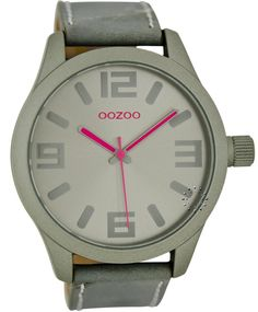 OOZOO Τimepieces Grey Leather Strap Μοντέλο: C6277 Η τιμή μας: 69€ http://www.oroloi.gr/product_info.php?products_id=36171