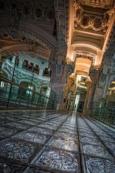 La salida del palacio, Madrid