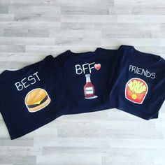 *-* Para las mejores amigas Bff Shirts, Best Friend T Shirts, Best Friend Outfits, Bff Goals, Best Friend Goals, Matching Outfits, Cute Outfits, Best Friends Forever, Look Cool