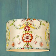 Carnival Wonderland Drum Shade Pendant - maybe cute in a bonus room, or if I had a bamboo shoot green kitchen (over the sink or island)