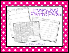 Homeschool Planning Pages
