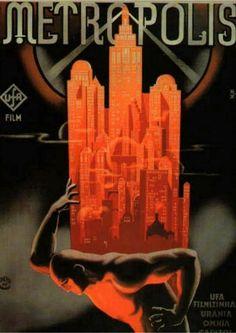 Poster for Metropolis (Fritz Lang, 1927) via ahiddengardenofsecrets
