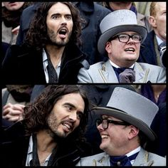 2 funny men. Russell with Alan Carr