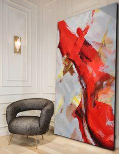 Handmade Extra Large Contemporary Painting Huge von CelineZiangArt