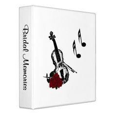 Music Bridal Memories Personal Binder
