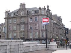 Looking east along Guild Street from the train station. Train Stations, Bus Station, Aberdeen, Bridge, British, Street View, Building, Bridge Pattern, Buildings