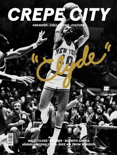 Cover of Issue 3 of Crepe City which features basketball legend Walt Frazier.