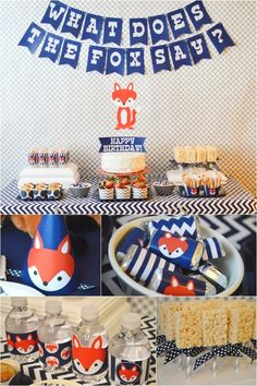 What Does the Fox Say boy's birthday party ideas www.spaceshipsandlaserbeams.com