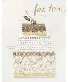 Fine Trim - lace, beading, soft tulle, sequins, delicate crystals, and more - BHLDN animated graphic