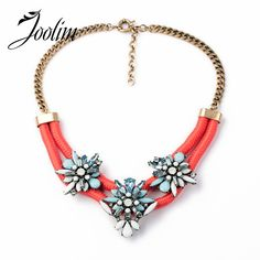 JOOLIM   Red Statement Choker Necklace Flower Necklace Jewelry  Wholesaler  Nickel & Lead Free Design Jewelry