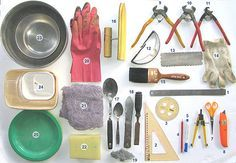the mosaicists toolbox. Tools used in mosaic work free classes
