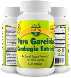 100% Pure Garcinia Cambogia Extract with 80% HCA, Weight Loss Diet Pills for Wom #NutraRise