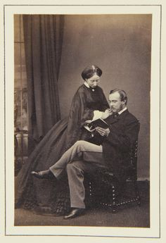 Prince and Princess Louis of Hesse, November 1862 [in Portraits of Royal Children Vol.6 1862-1863] | Royal Collection Trust