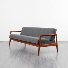 1960s three seater couch, teak  - Karlsruhe