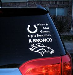 Go Peyton Manning!!! When a Colt grows up it becomes a Bronco!