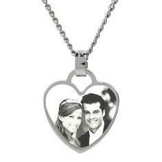 Cute photo heart pendant