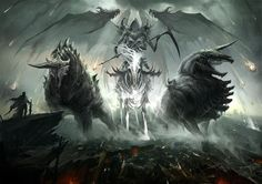 Reaper riding the beasts of hell