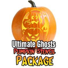 Ghosts-Pumpkin-Carving-Stencil-Package