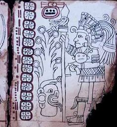 Page Grolier Codex, with drawings of underpainting by Stephen Houston (photo by Enrico Ferorelli) Ancient Mysteries, Ancient Artifacts, Mesoamerican, Inca, Native American Art, American History, Ancient History, Archaeology, Languages