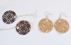 Paper Earrings- such an easy craft to do with friends, kids or alone. Great DIY tutorial for this great craft that you can personalize to your style.