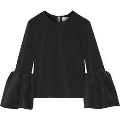 RoksandaTruffaut Stretch-crepe Top (€900) ❤ liked on Polyvore featuring black