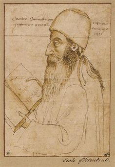 Portrait Of Manuel Chrysoloras Wearing A Hat And Holding A Book. Paolo Uccello