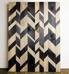 stacie: distorted chevron is the new chevron!  Note this on wood!!!  What an idea!!!