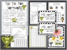 Kindergarten Common Core Homework Packet from Mrs Messenger Printables on TeachersNotebook.com (13 pages)
