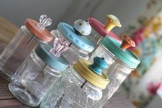 After She Paints These Mason Jar Lids She Does Something SO DARN CUTE To Them…