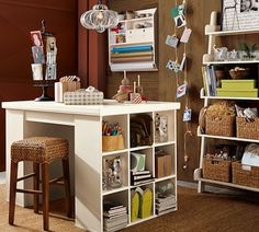 gift wrapping room.