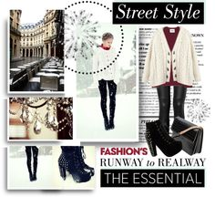 """""""Street Style : Snow"""" by indu221 ❤ liked on Polyvore"""