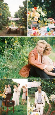 Orchard Vintage Anniversary Party via Kara's Party Ideas