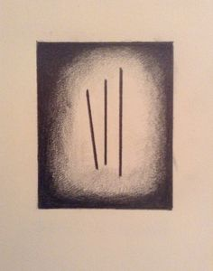 Vertical Lines Graphite on Paper