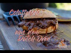 Habt Ihr schon malColafleisch aus dem Dutch Oven zubereitet? Wenn nicht, dann solltet Ihr das unbedingt nachholen... #tobiasgrillt Burger, Dutch Oven, Bbq, Meat, Youtube, Treats, Iron Pan, Barbecue