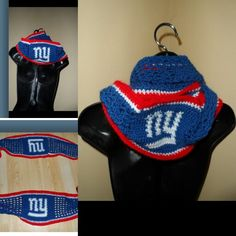 Infinity scarf for a NY Giants fan.  Big Blue