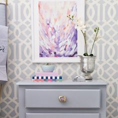 Love this art from @minted! #imperialtrellis @schumacher1889 #oneroomchallenge happy mothers day!! Xo