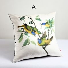 Bird throw pillows pastoral style 3D animal off the sofa cushions