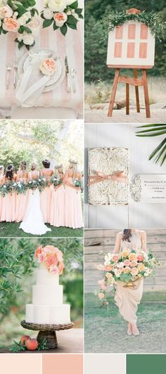 Spring Wedding- the best spring wedding colors combined with peach