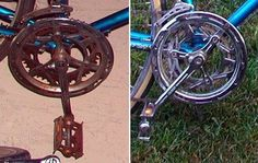 How to green clean your old, rusty, vintage bikes.