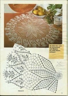 World crochet: Napkin 165 Crochet Doily Diagram, Crochet Lace Edging, Crochet Doily Patterns, Thread Crochet, Love Crochet, Filet Crochet, Vintage Crochet, Crochet Designs, Crochet Flowers