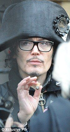 Double take: Adam Ant, the star who is making a musical comeback, was certainly a bit of a ringer for the 19th Century French Emperor