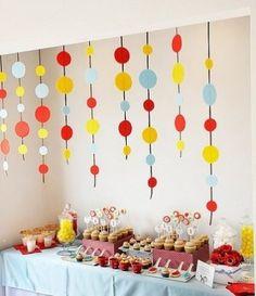 decoração de festa infantil unissex simples